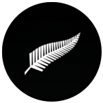 New Zealand Fern Flag 25mm Pin Button Badge